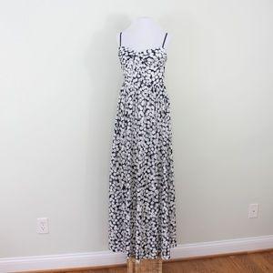 Betsey Johnson Maxi Dress Blue White 8 Medium M